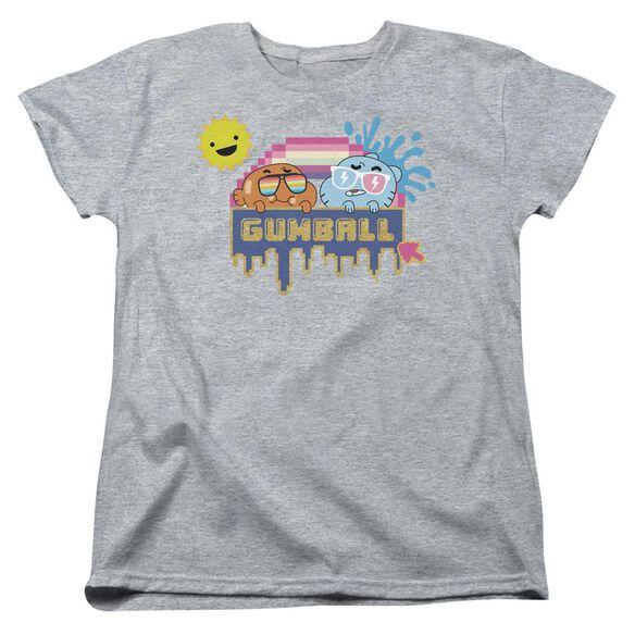 Amazing World Of Gumball Sunshine Short Sleeve Womens Tee Athletic T-Shirt