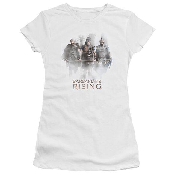 Barbarians Rising Three Barbarians Short Sleeve Junior Sheer T-Shirt