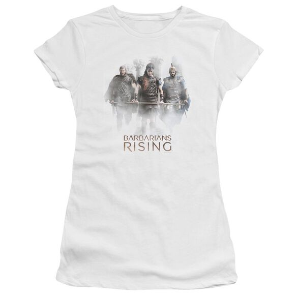 Barbarians Rising Three Barbarians Hbo Short Sleeve Junior Sheer T-Shirt