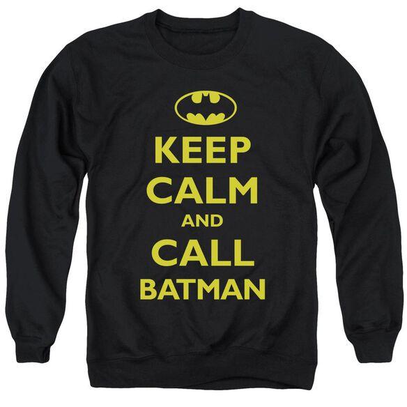 Batman Call Batman - Adult Crewneck Sweatshirt - Black