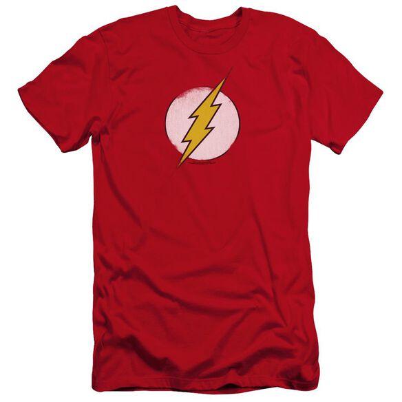 Dc Flash Rough Flash Logo-premuim Canvas Adult Slim