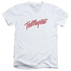 Ted Nugent Clean Logo Short Sleeve Adult V Neck T-Shirt