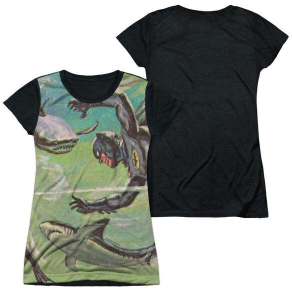 Batman Classic Tv Underwater Short Sleeve Junior Poly Black Back T-Shirt