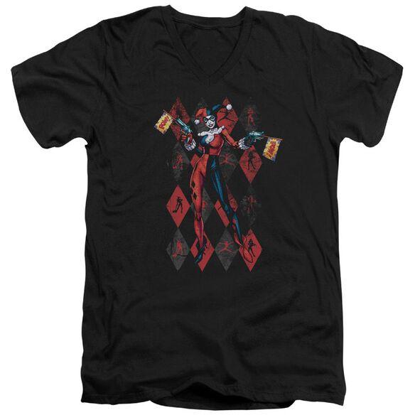 Batman Pow Pow Short Sleeve Adult V Neck T-Shirt