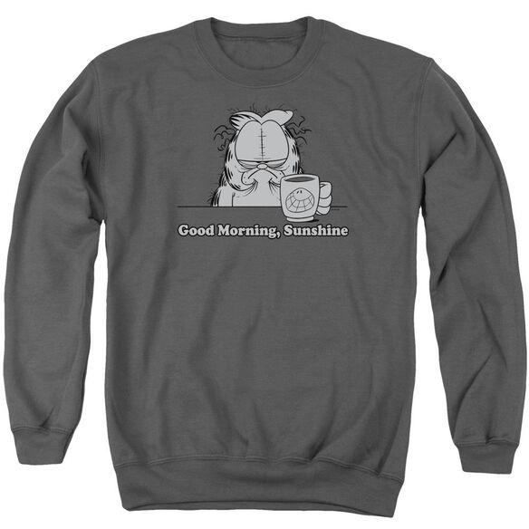 Garfield Good Morning Sunshine - Adult Crewneck Sweatshirt - Charcoal