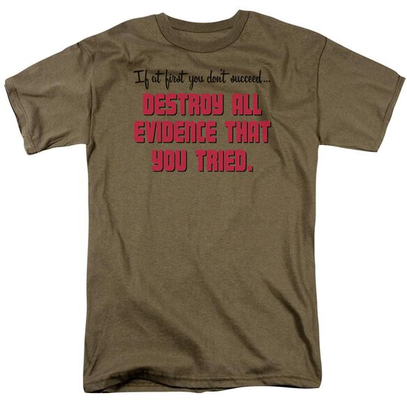 Destroy All Evidence Short Sleeve Adult Athletic T-Shirt