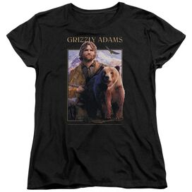 Grizzly Adams Collage Short Sleeve Women's Tee T-Shirt