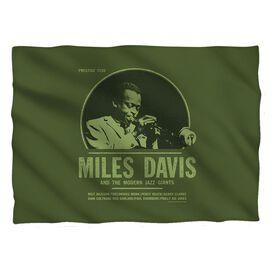 Miles Davis Green Miles Pillow Case White