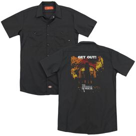 Amityville Horror Get Out(Back Print) Adult Work Shirt
