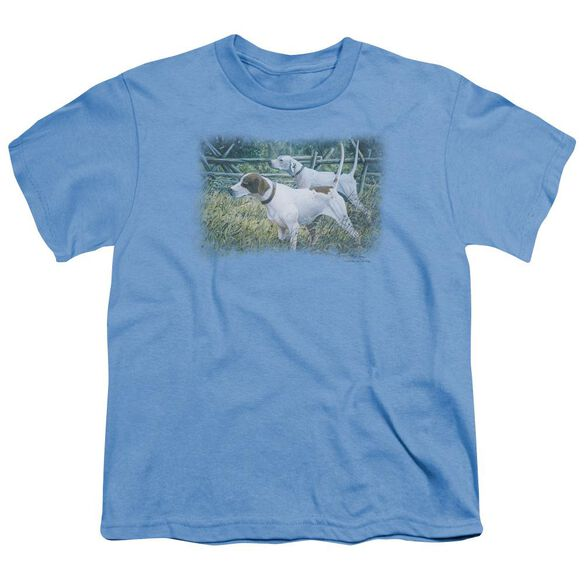 Wildlife English Pointer Pair Short Sleeve Youth T-Shirt