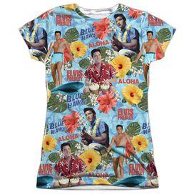 Elvis Surfs Up Short Sleeve Junior Poly Crew T-Shirt