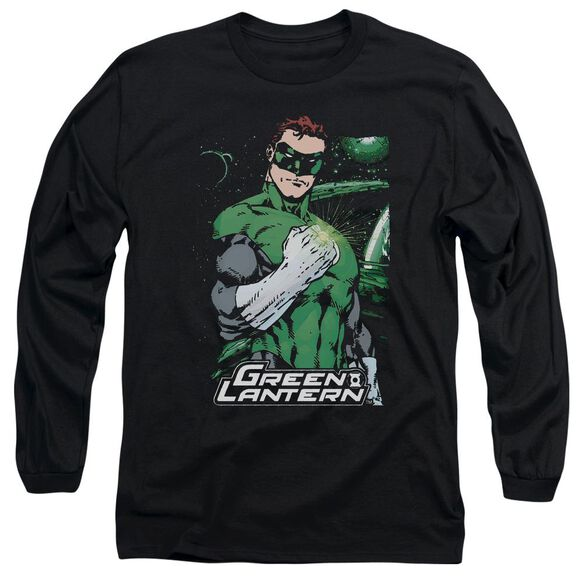 Jla Fist Flare Long Sleeve Adult T-Shirt