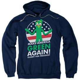 Gumby For President Adult Pull Over Hoodie
