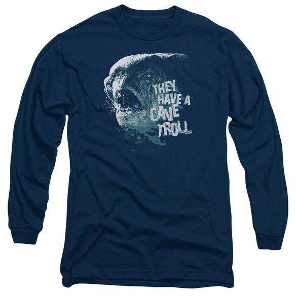 Lor Cave Troll Long Sleeve Adult T-Shirt