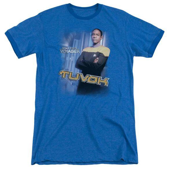 Star Trek Tuvok Adult Heather Ringer Royal Blue