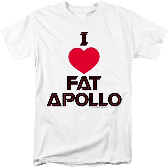 BSG I HEART FAT APOLLO - S/S ADULT 18/1 - WHITE T-Shirt