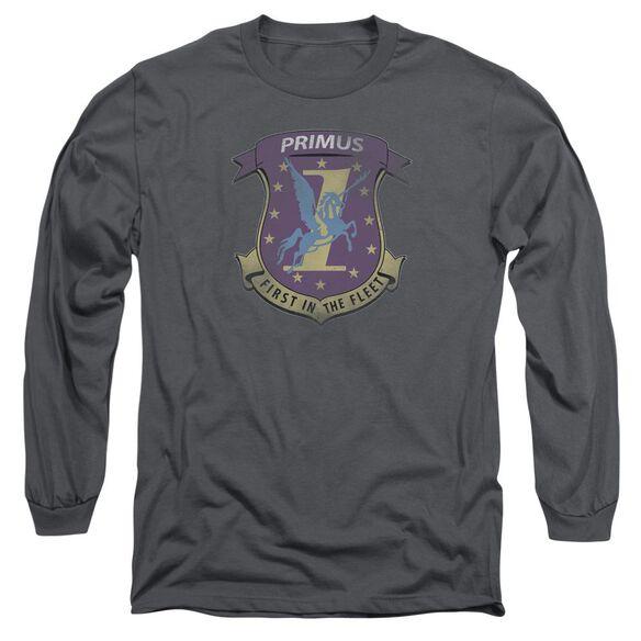 BSG PRIMAS BADGE - L/S ADULT 18/1 - CHARCOAL T-Shirt