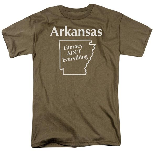 Arkansas Short Sleeve Adult Safari Green T-Shirt