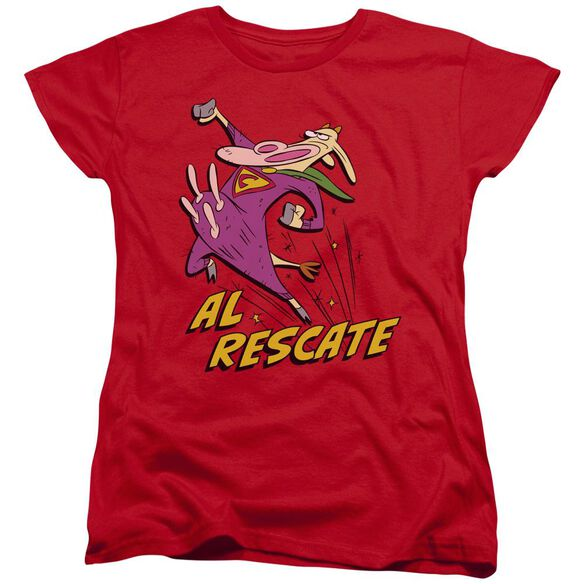 Cow And Chicken Al Rescate Short Sleeve Womens Tee T-Shirt
