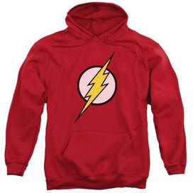 Jla Flash Logo Adult Pull Over Hoodie