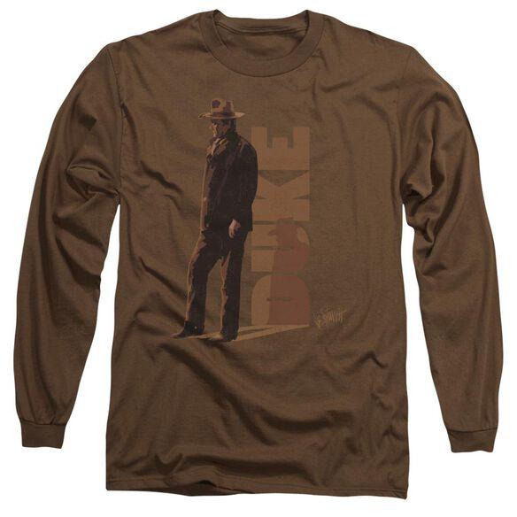 John Wayne Lean Long Sleeve Adult T-Shirt