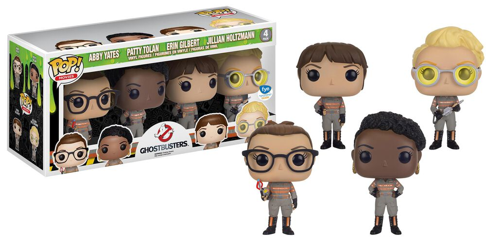 exclusive ghostbusters 2016 funko pop 4 pack fye