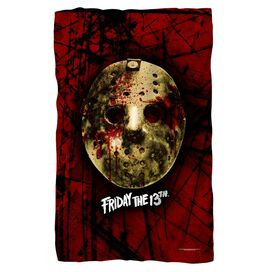 Friday The 13 Th Bloody Mask Fleece Blanket