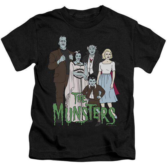 The Munsters The Family Short Sleeve Juvenile Black T-Shirt