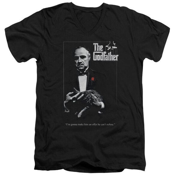 Godfather Poster Short Sleeve Adult V Neck T-Shirt