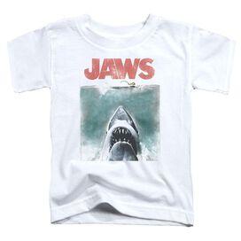 Jaws Vintage Poster Short Sleeve Toddler Tee White T-Shirt