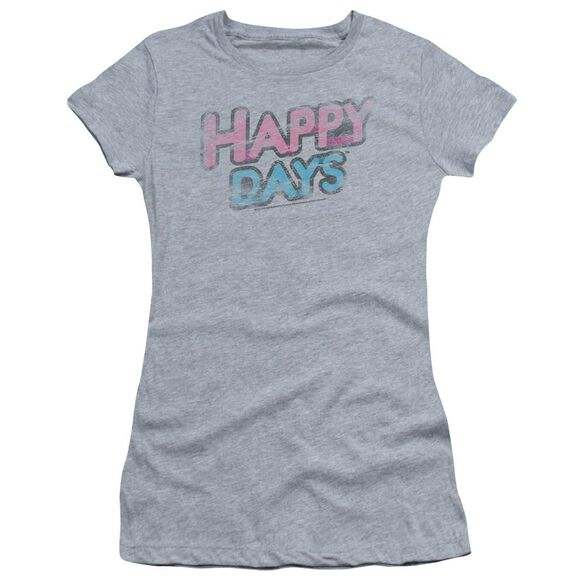 Happy Days Distressed Short Sleeve Junior Sheer T-Shirt