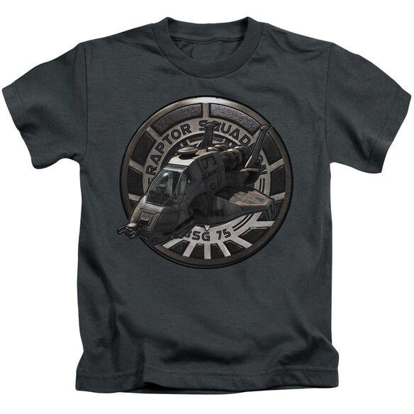 Bsg Raptor Squadron Short Sleeve Juvenile Charcoal T-Shirt