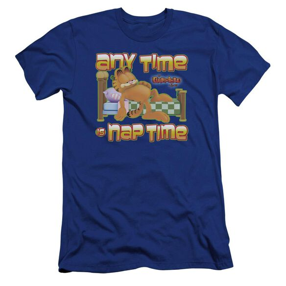 Garfield Nap Time Premuim Canvas Adult Slim Fit Royal