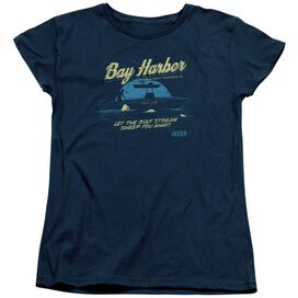 DEXTER MOONLIGHT FISHING - S/S WOMENS TEE - NAVY T-Shirt