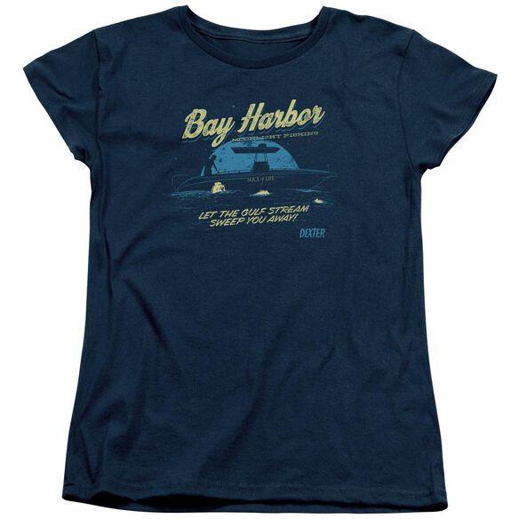 Dexter Moonlight Fishing Short Sleeve Womens Tee T-Shirt