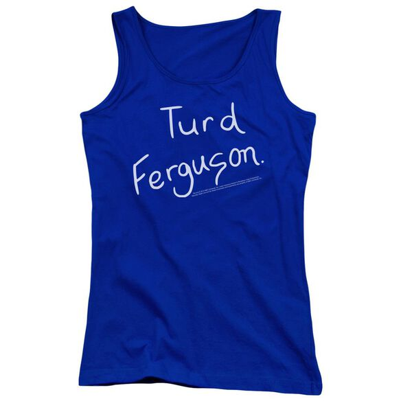 Snl Turd Ferguson Juniors Tank Top Royal