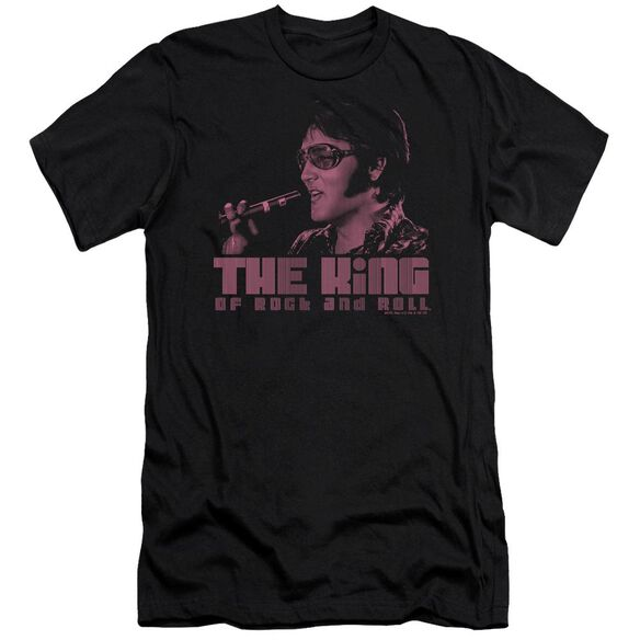 Elvis The King Short Sleeve Adult T-Shirt