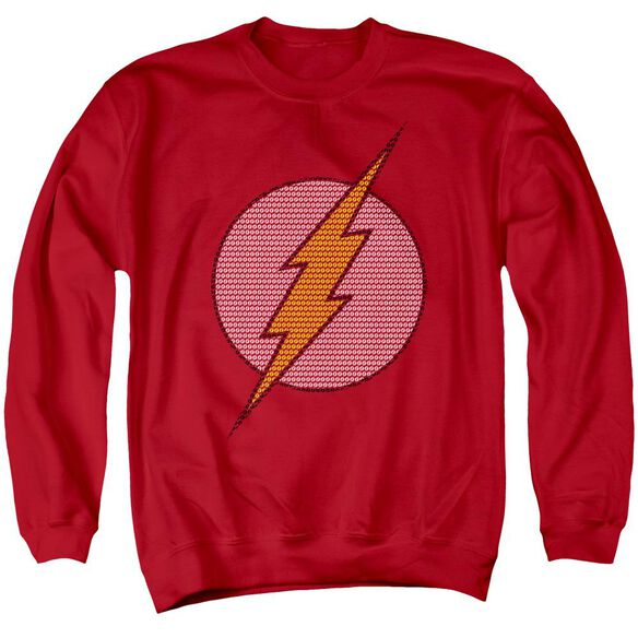 Dc Flash Little Logos Adult Crewneck Sweatshirt