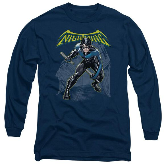Batman Nightwing Long Sleeve Adult T-Shirt