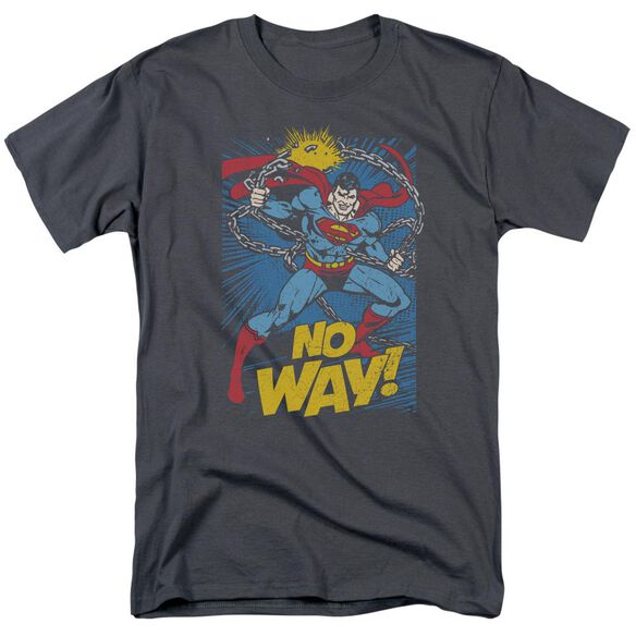 Dc No Way Short Sleeve Adult Charcoal T-Shirt
