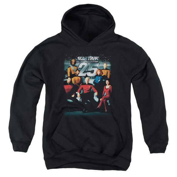 Star Trek 25 Th Anniversary Crew Youth Pull Over Hoodie