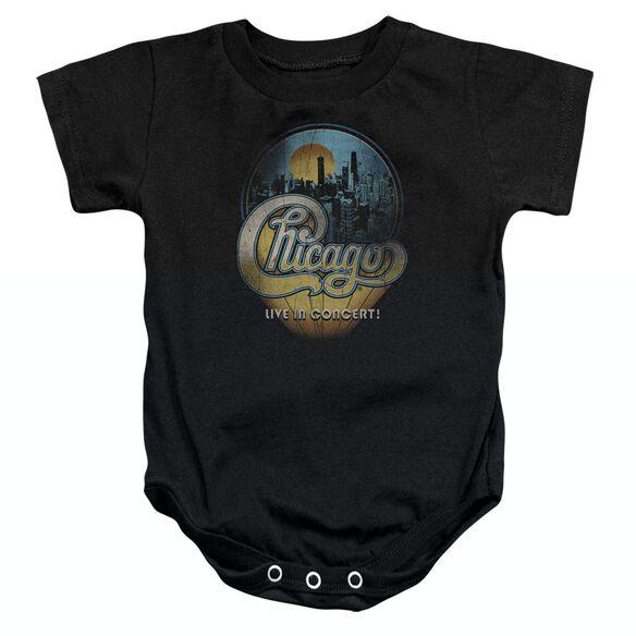 Chicago Live Infant Snapsuit Black