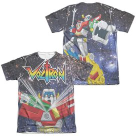 Voltron Space Defender (Front Back Print) Adult Poly Cotton Short Sleeve Tee T-Shirt