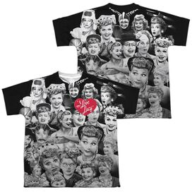 I LOVE LUCY FACES (FRONT/BACK PRINT)-S/S YOUTH T-Shirt