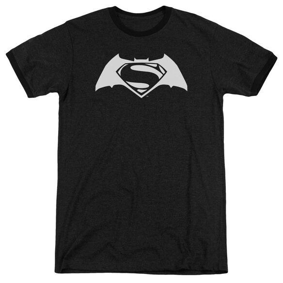 Batman V Superman Simple Logo Adult Ringer