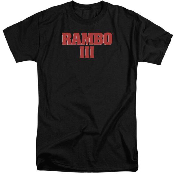 Rambo Iii Logo Short Sleeve Adult Tall T-Shirt