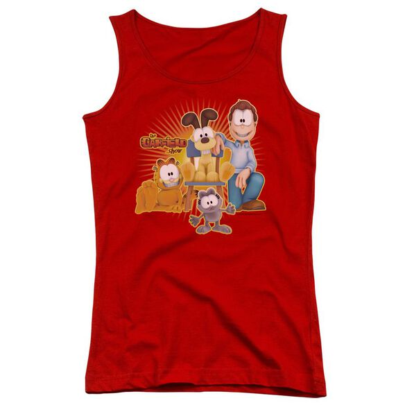 Garfield Say Cheese Juniors Tank Top