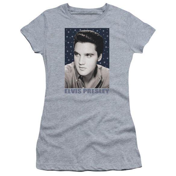 Elvis Blue Sparkle Short Sleeve Junior Sheer Athletic T-Shirt
