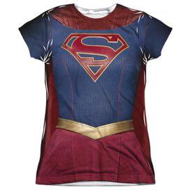 Supergirl Supergirl Uniform Short Sleeve Junior Poly Crew T-Shirt