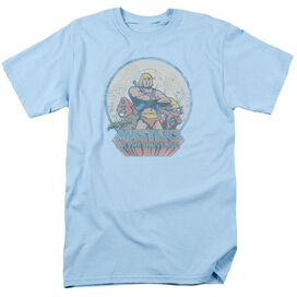 Masters Of The Universe He Man And Crew Short Sleeve Adult Light Blue T-Shirt